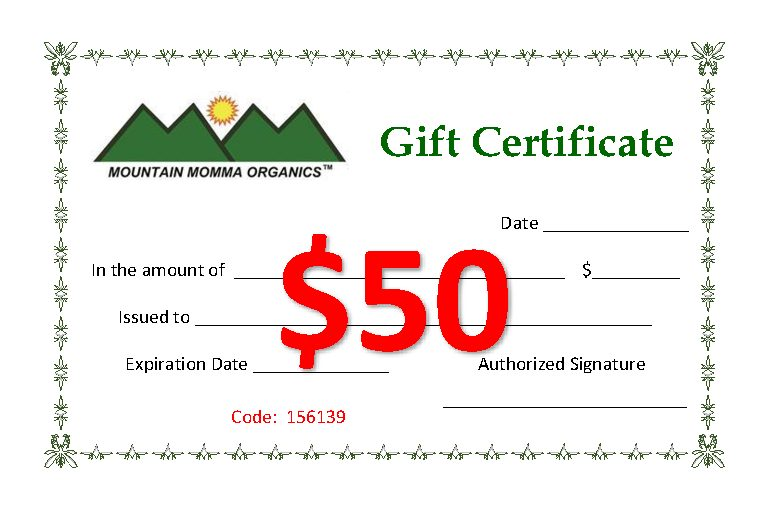 Gift Certificates 50